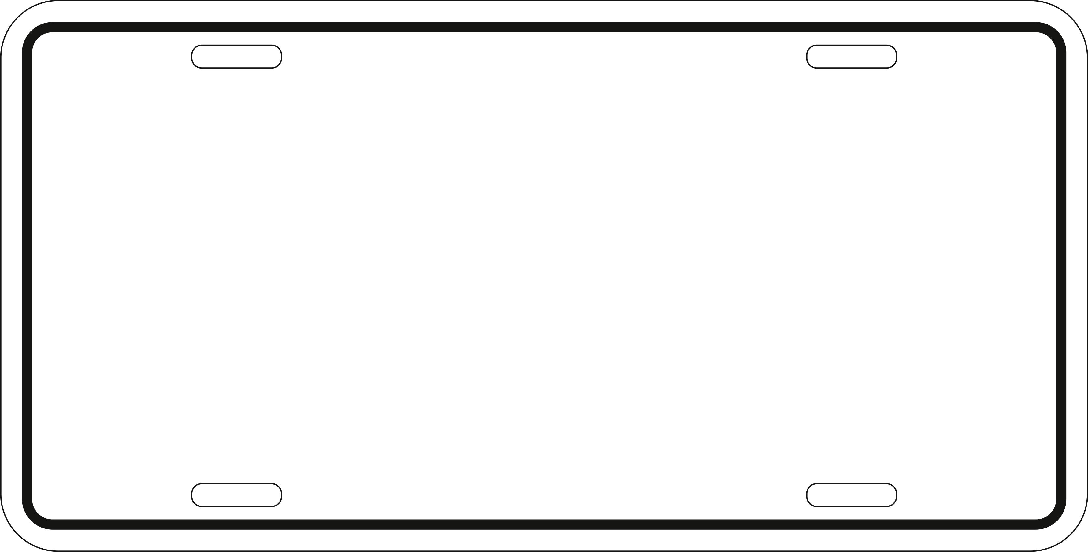 printable license plate template.