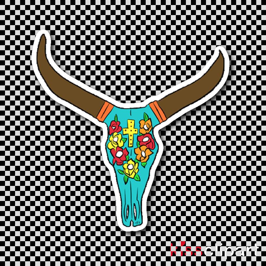 texas longhorn bovine horn logo clipart.