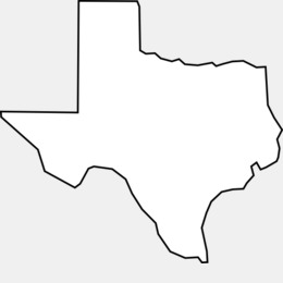 Texas Map clipart.