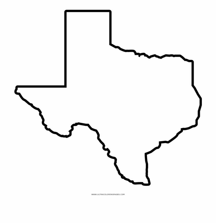 Texas Map Outline Png.