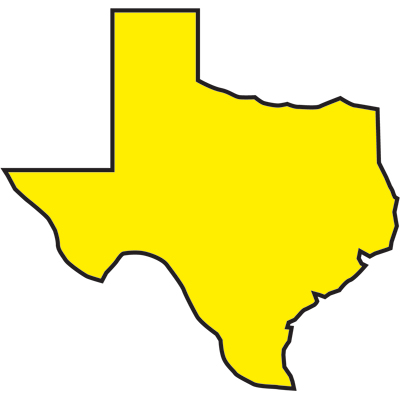 Texas Outline With Flag State Map And Clipart.