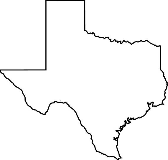 Texas map clipart 4 » Clipart Station.