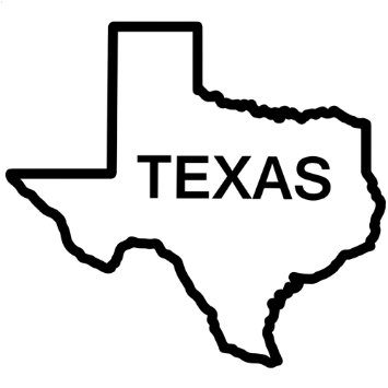 Outline Of The State Of Texas.