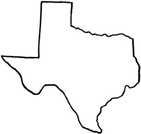 Texas Outline Clipart.