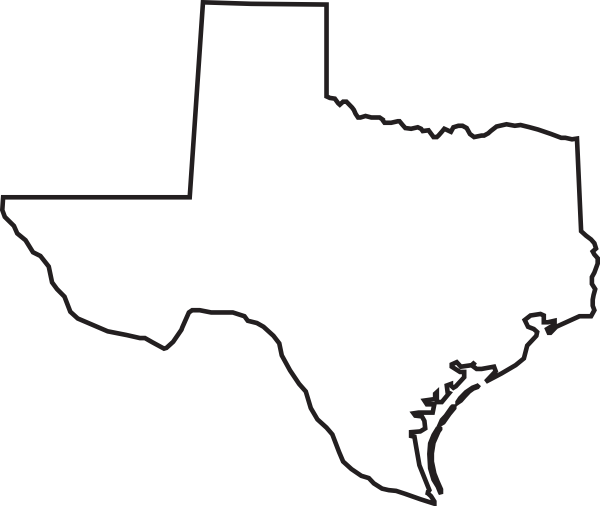 Free Clipart Of Outline Of Texas.