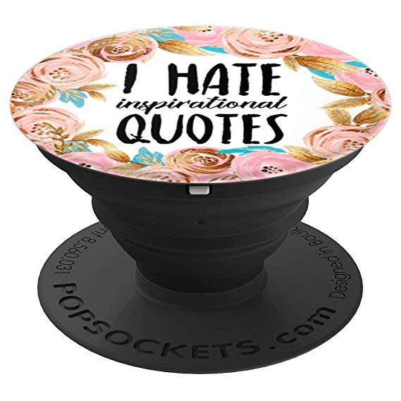 Amazon.com: I Hate Inspirational Quotes in Floral Pattern.
