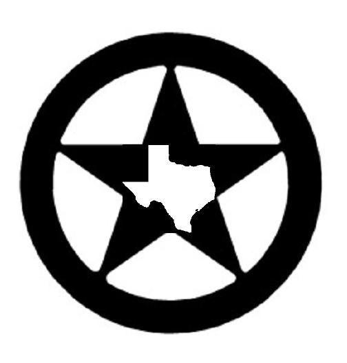 Texas Star Black and White.