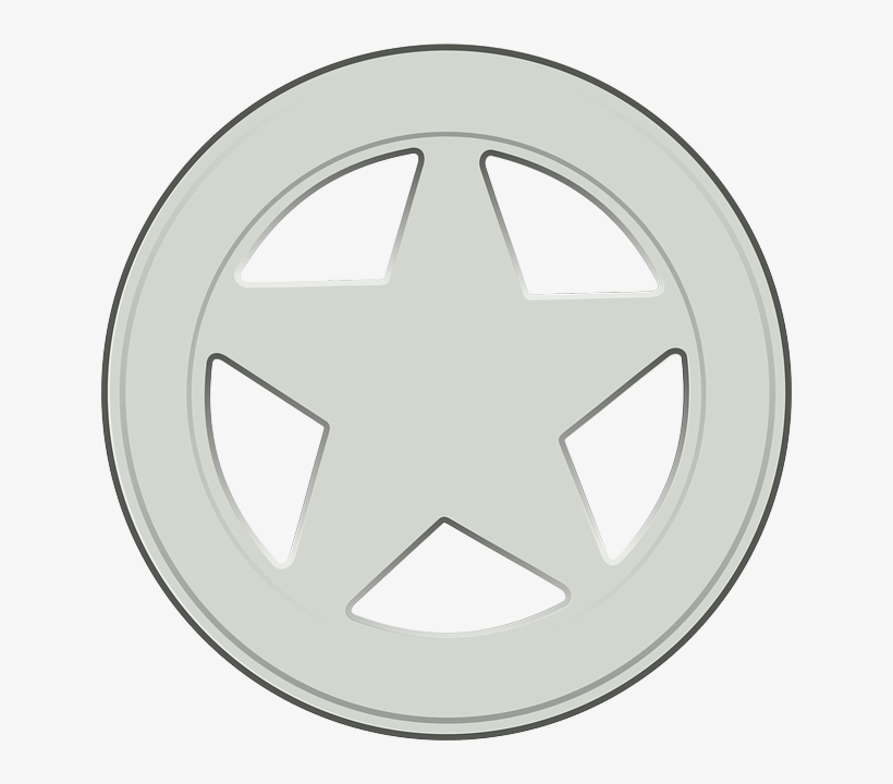 Sheriff, Badge, Star, Silver.