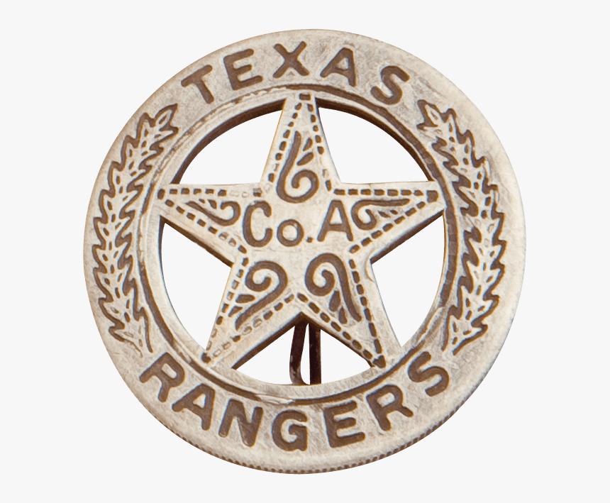Round Texas Ranger Badge.