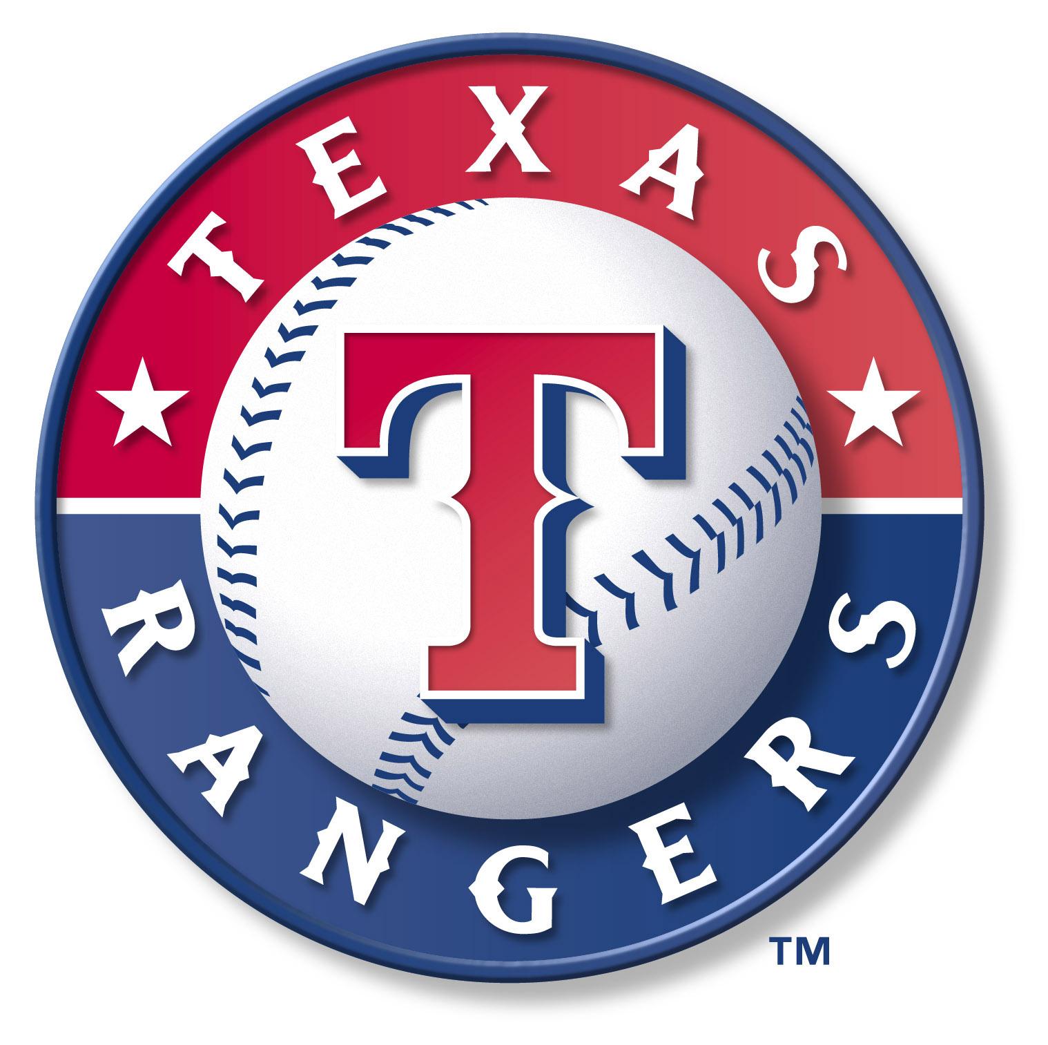 Texas Rangers Baseball Logo Clip Art free image.