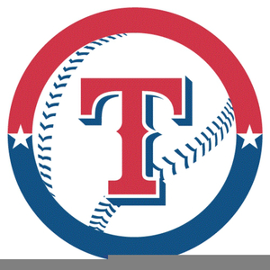 Texas Rangers Baseball Clipart.