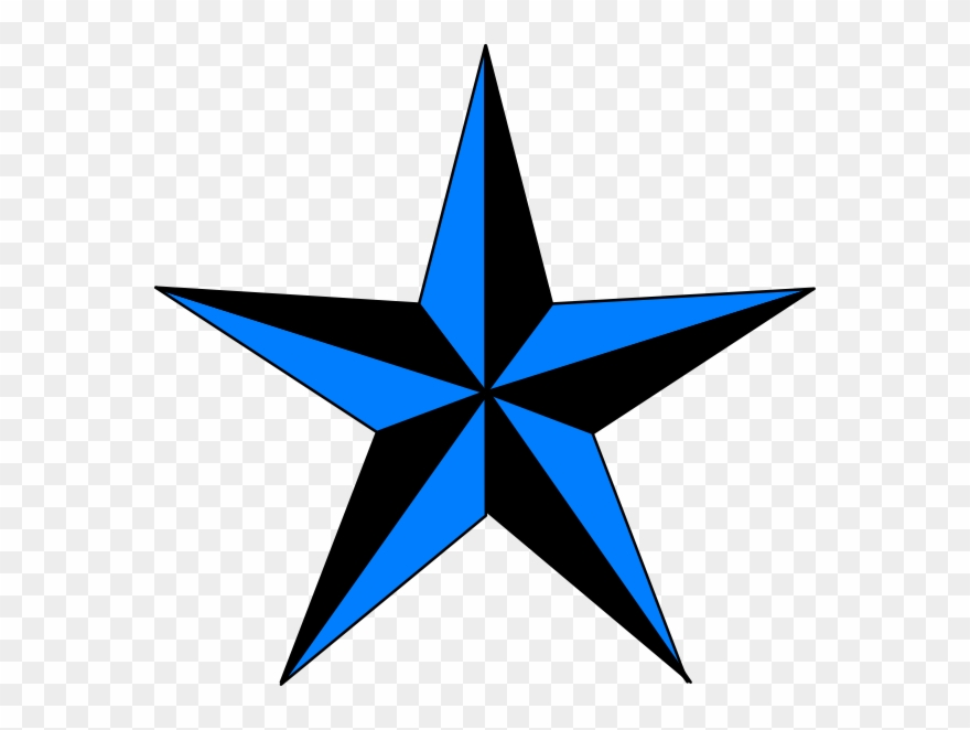 Blue Black Texas Star Clip Art.
