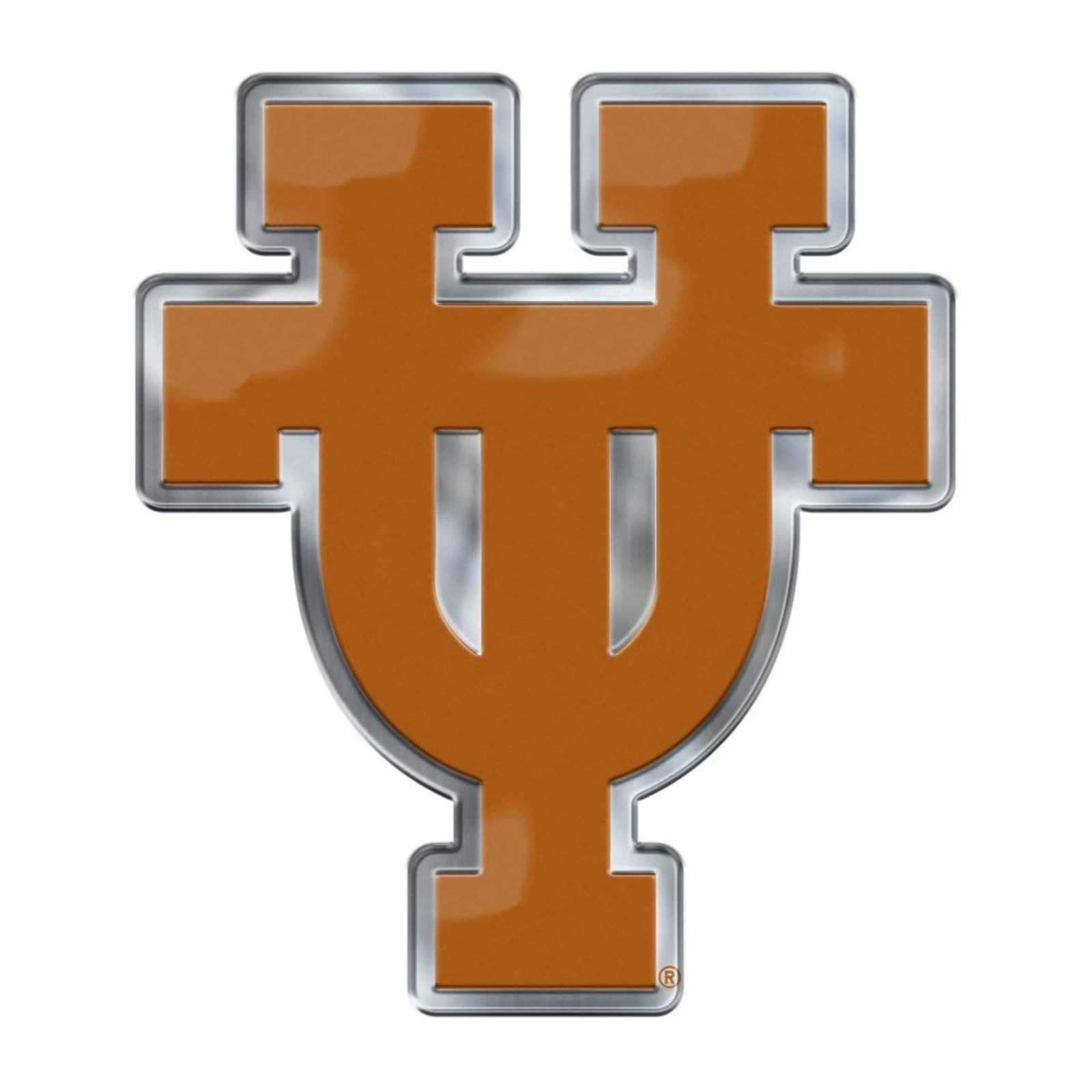 Details about Texas Longhorns CE4 Alternate Logo Color Auto Emblem Chrome  Decal University of.