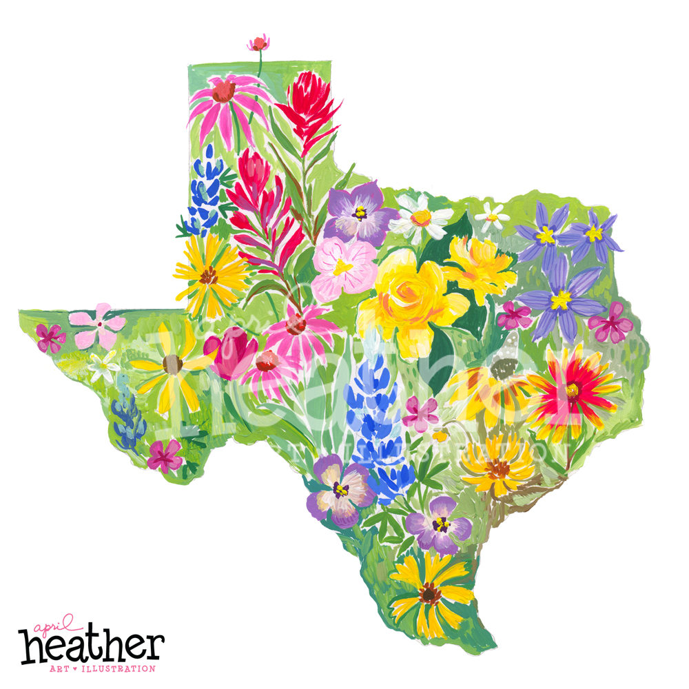 Texas Wildflowers: Big Love for Texas.