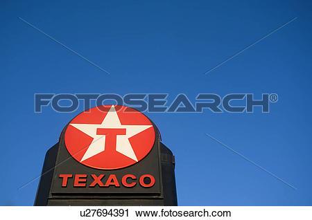 Stock Photography of England, Greater London, London. A Texaco.