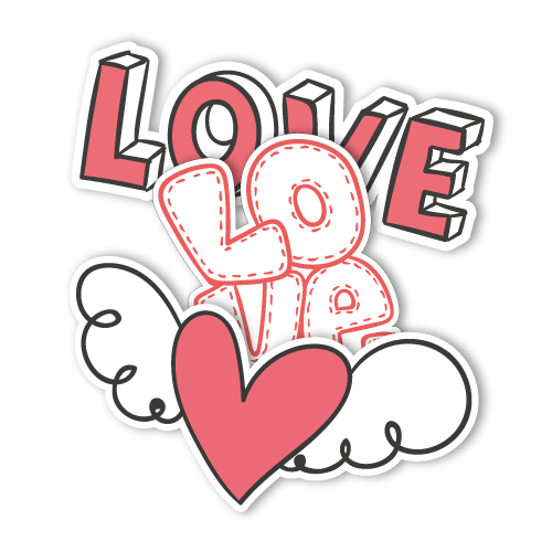 Love Text PNG Image.