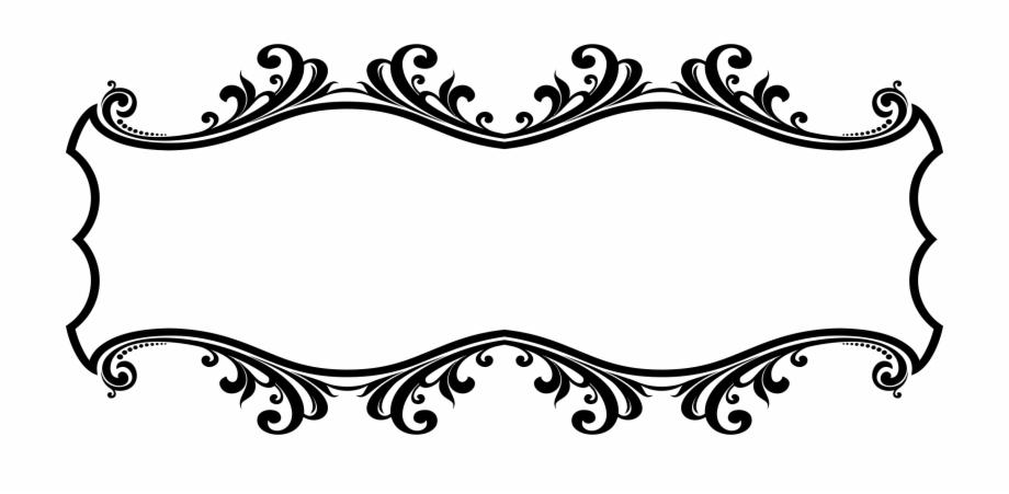 Text Frame Png Line Art Border Designs.