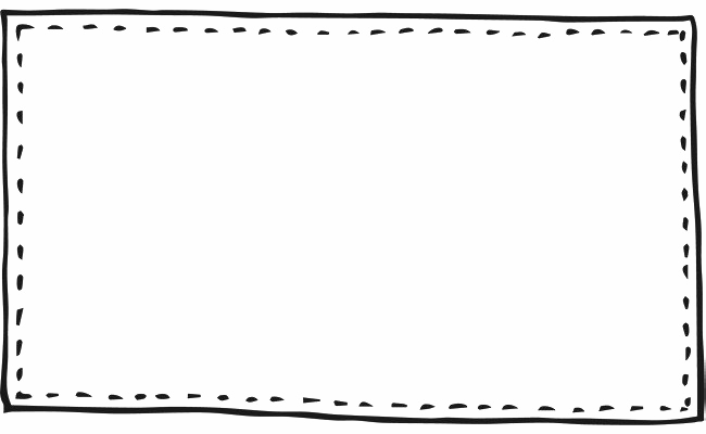 Text Border Transparent Background.