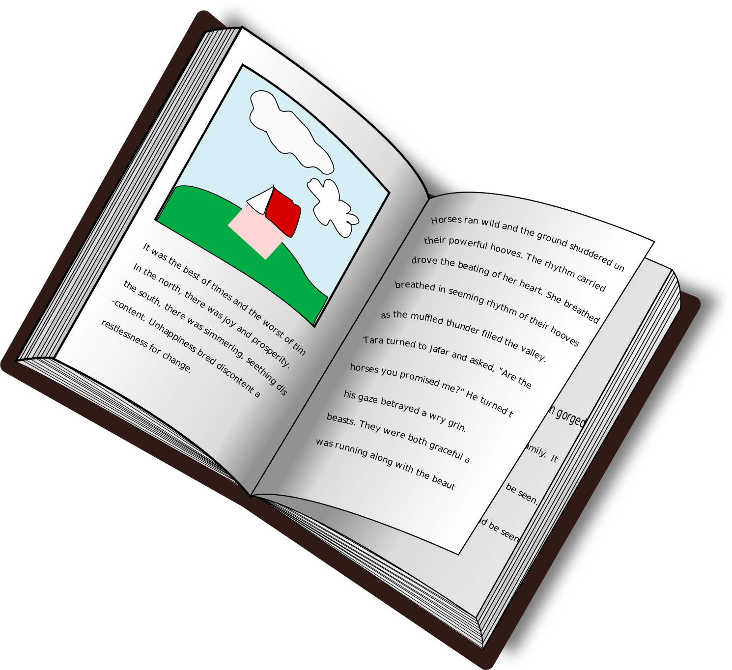 Text book clip art.