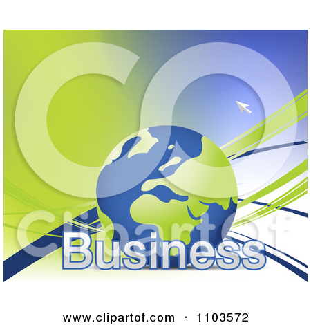 Clipart Globe With Business Text And Cursor 1.