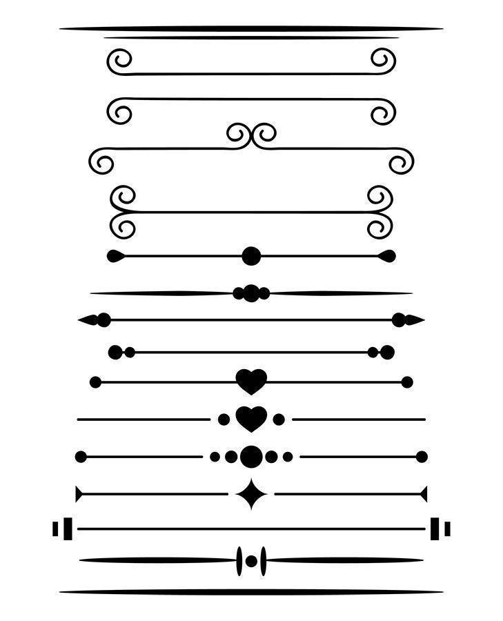 16 Simple Page Dividers Clipart.