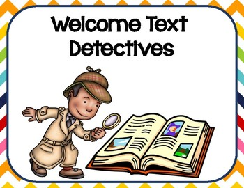 Finding Text Evidence by Being a Text Detective.