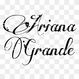 Free Ariana Grande Text PNG Images.