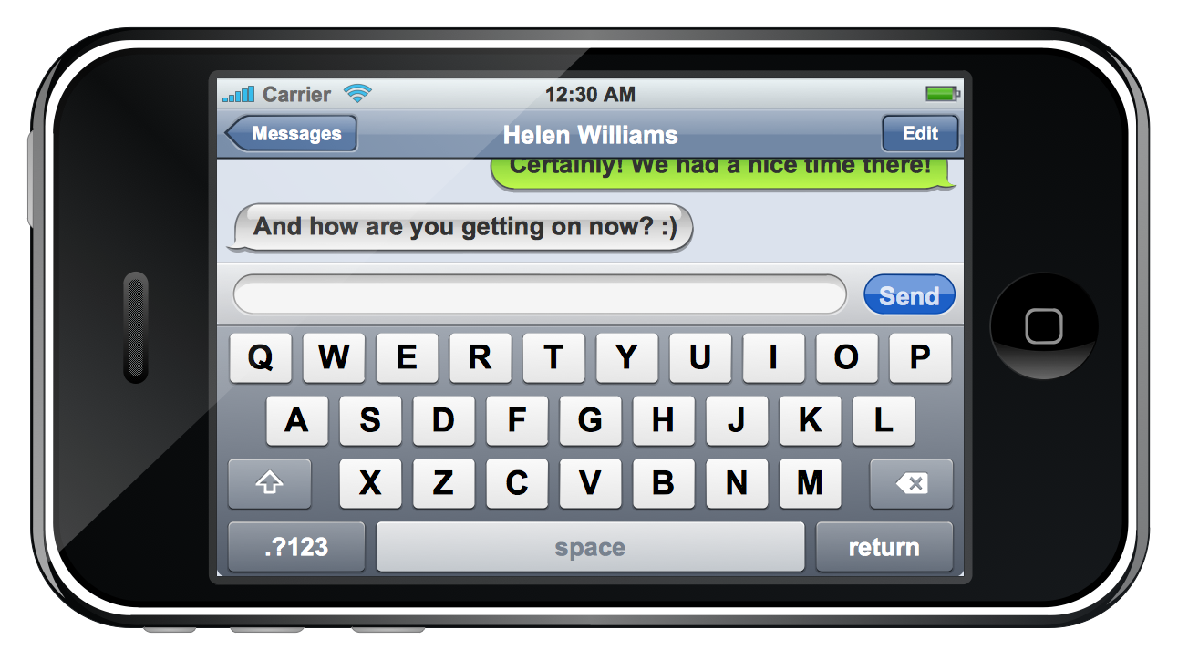 Iphone Text Message Clipart.