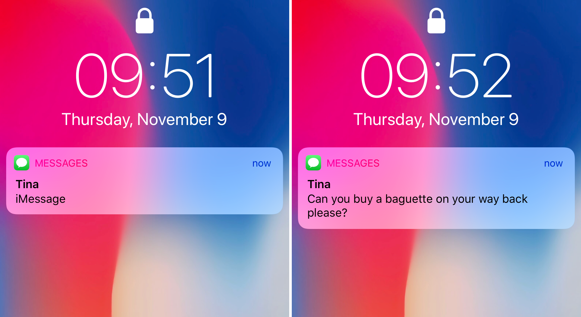 How to always show notification previews on iPhone X Lock screen.