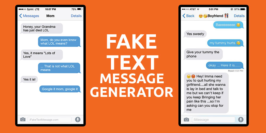 Fake Text Message Generator Service For Free Online.