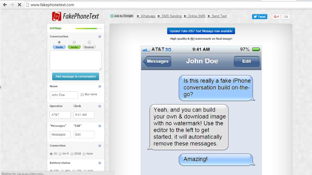 iPhone Fake Text Generator Tools.