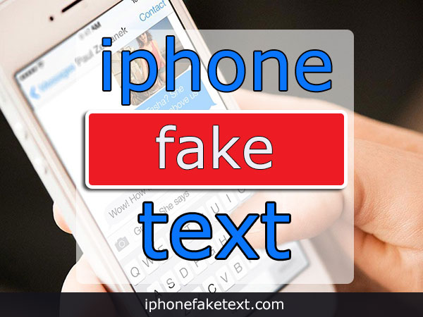 Fake iPhone Text Messages.