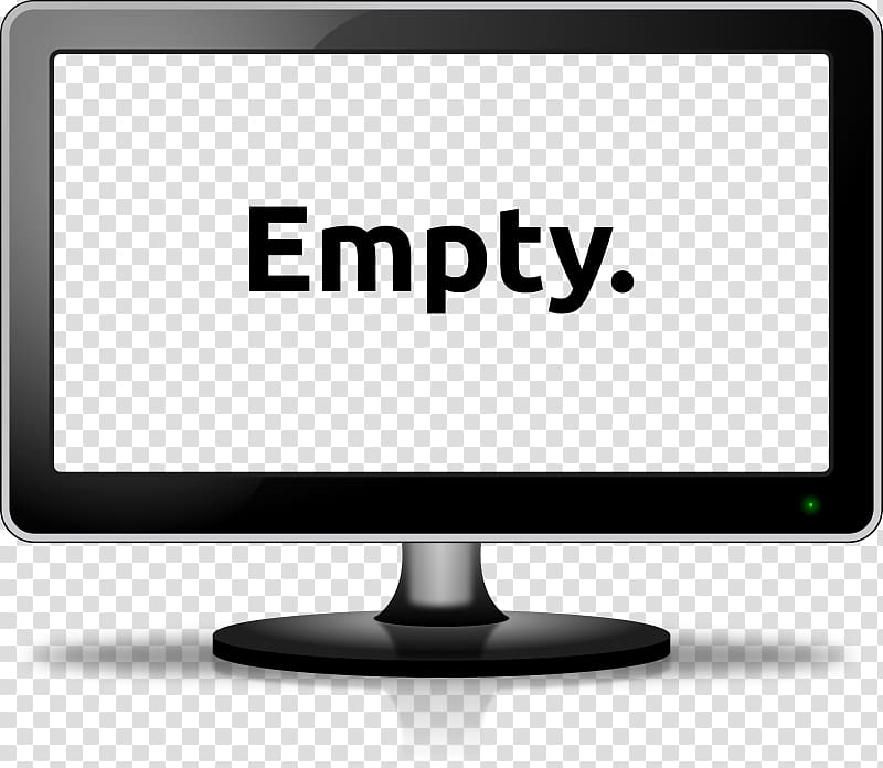 Black flat screen TV, Laptop Computer monitor Free content.