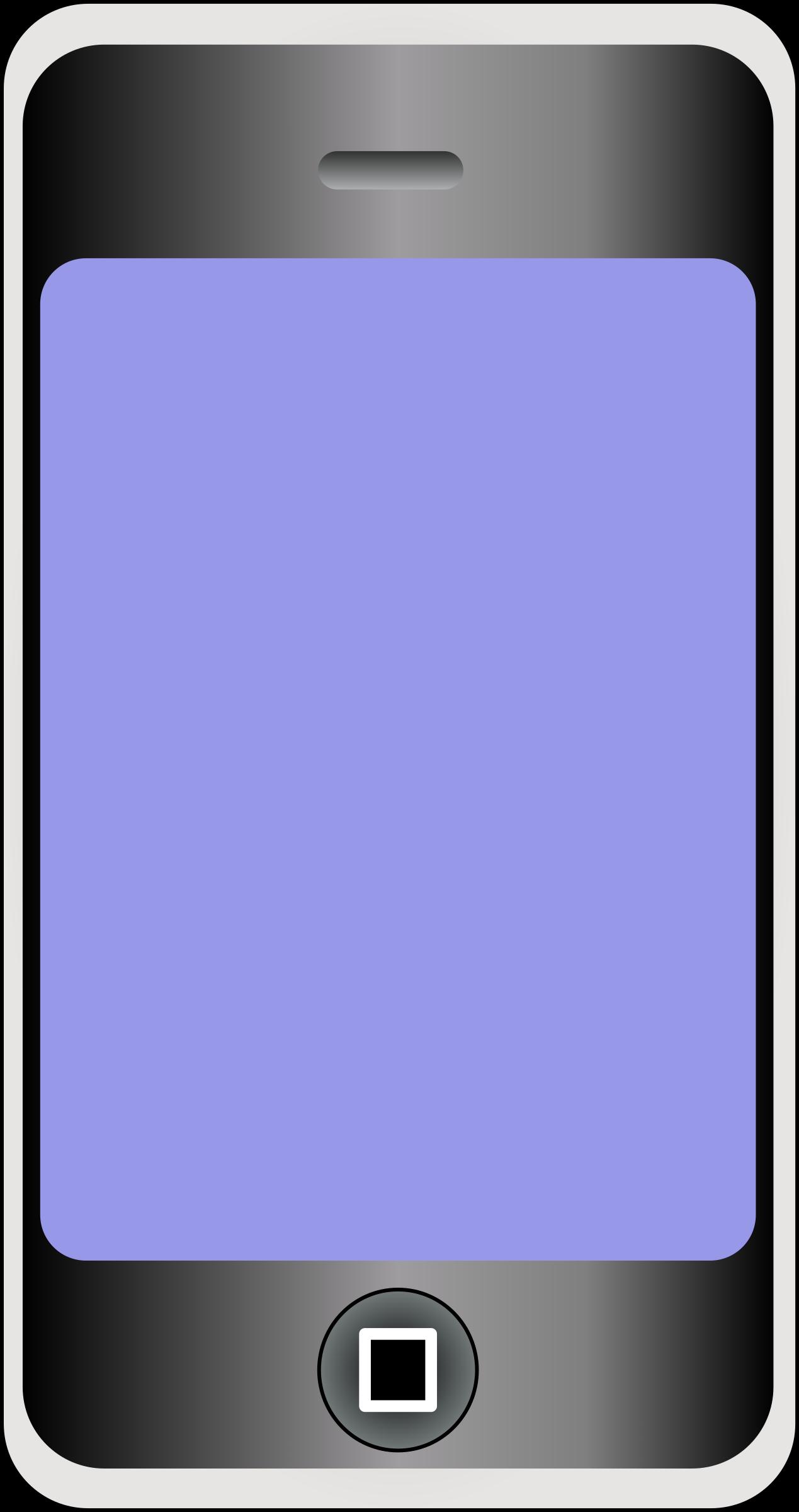 Phone Screen Clipart.