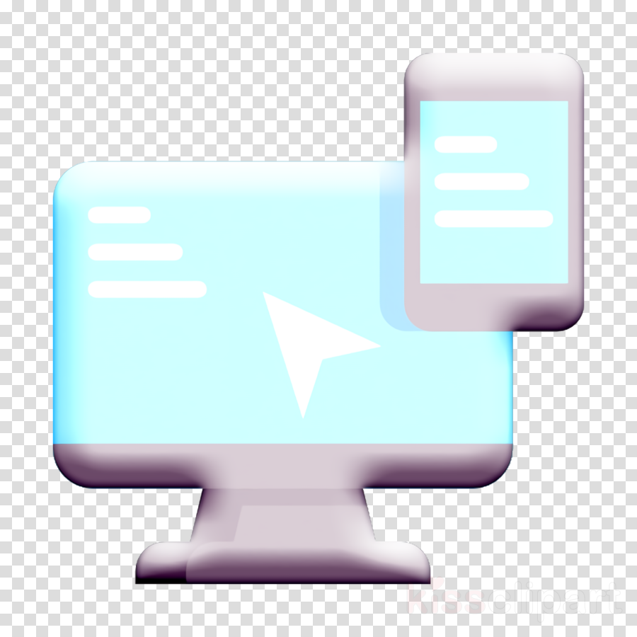 Computer icon Screen icon Ecommerce icon clipart.