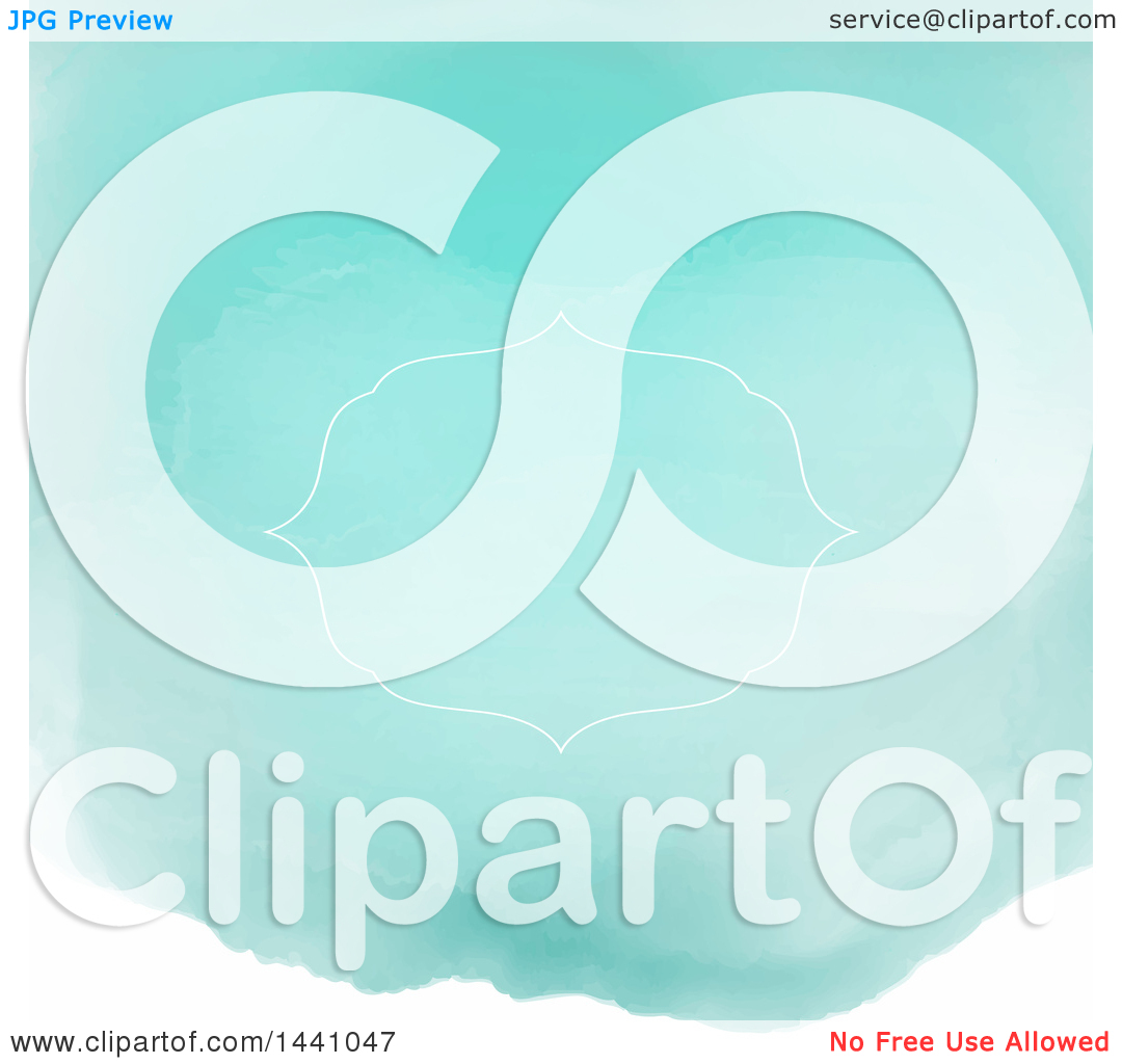 Clipart of a White Frame and Text Space Watercolor Invitation.