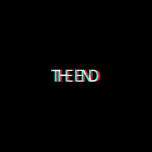 stickers png tumblr 3D theend inscription text надпись.