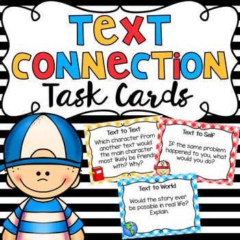 Reading Text Connection Task Cards.