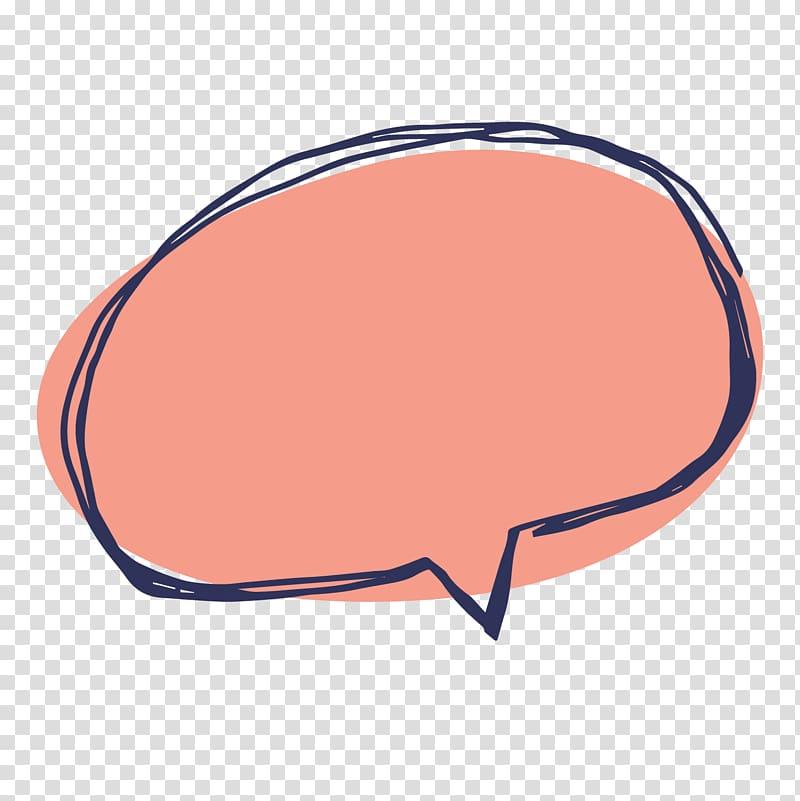 Speech balloon Cartoon, drawing red text dialog box, oval.