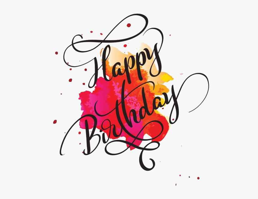 Happy Birthday Text Png Transparent Picture.
