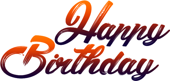 Download Happy Birthday Png Text Jpg Transparent Library.
