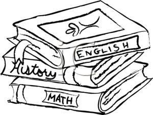 Black and White Textbooks.