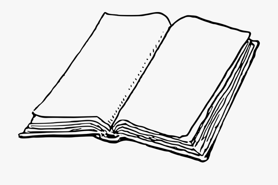 Blank Book Clipart.