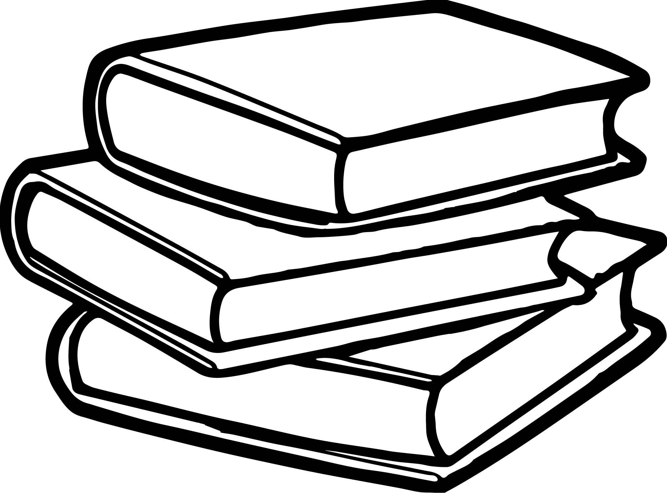 Black And White Books Clipart.