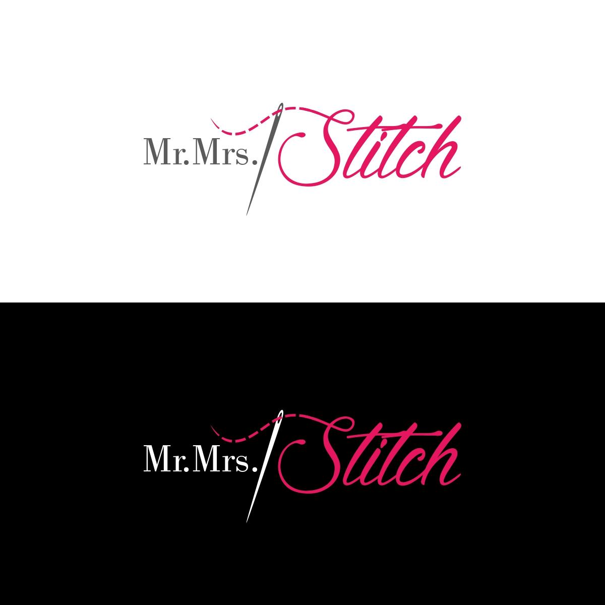 Elegant, Playful, Textile Logo Design for Mr. & Mrs. Stitch.