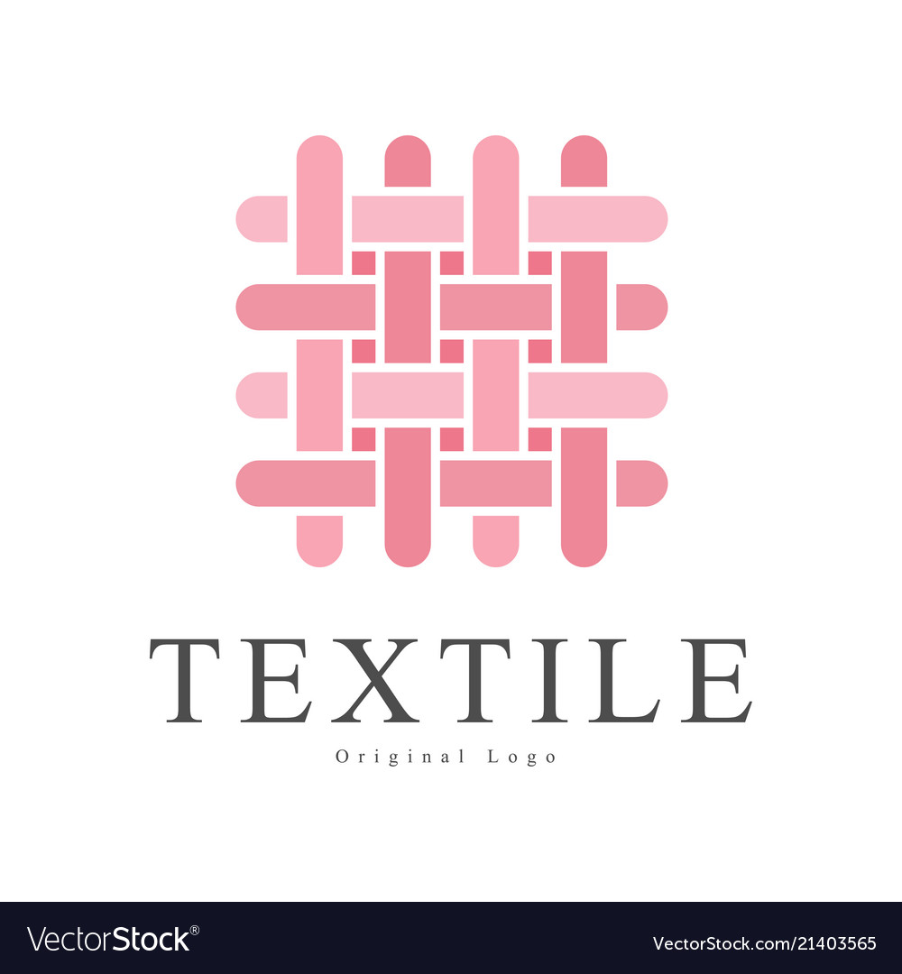 Textile original logo design creative sign for.
