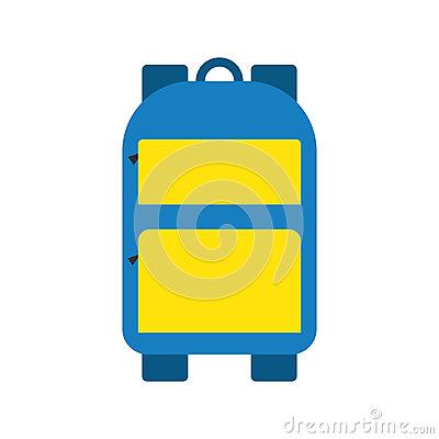 Sport Or School Bag Vector Isolated Stock Vector.
