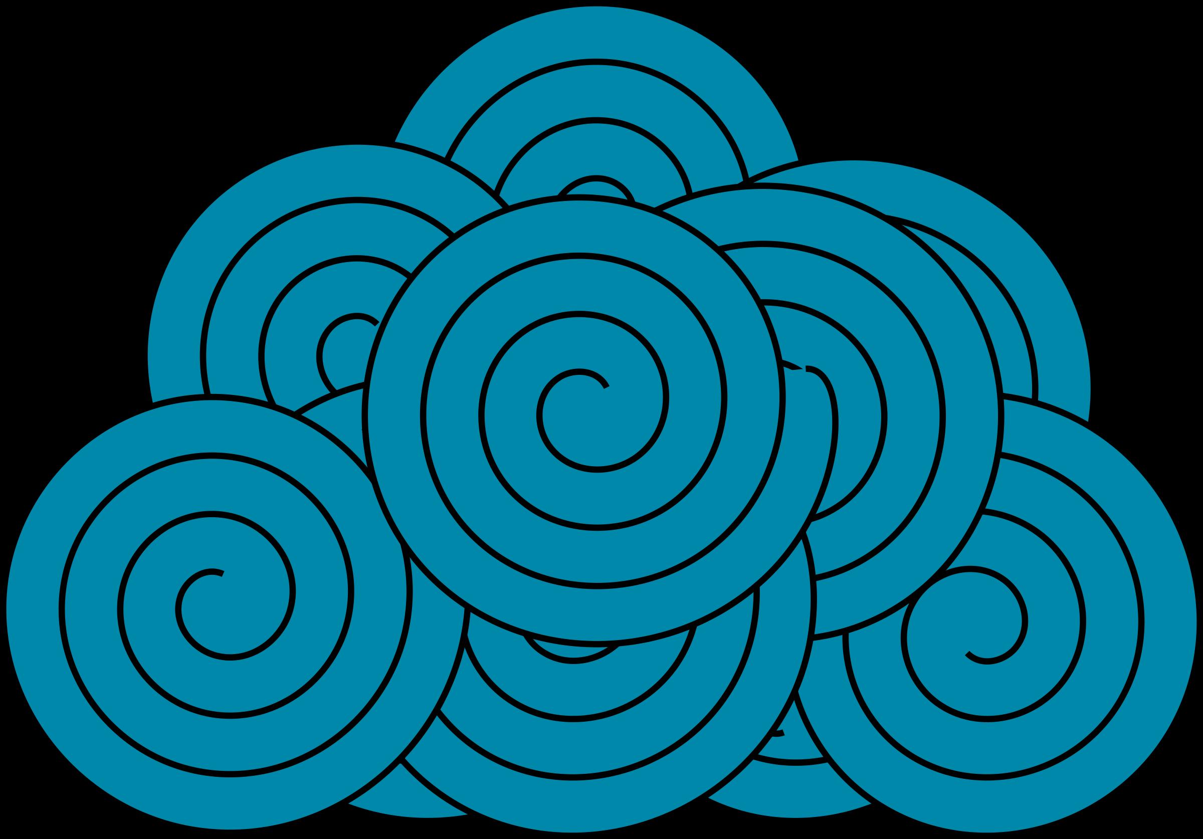 Textile Cloud Vector Clipart image.