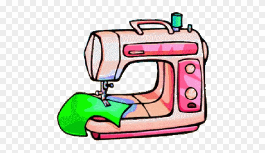 Textiles Sewing Machine Clipart.