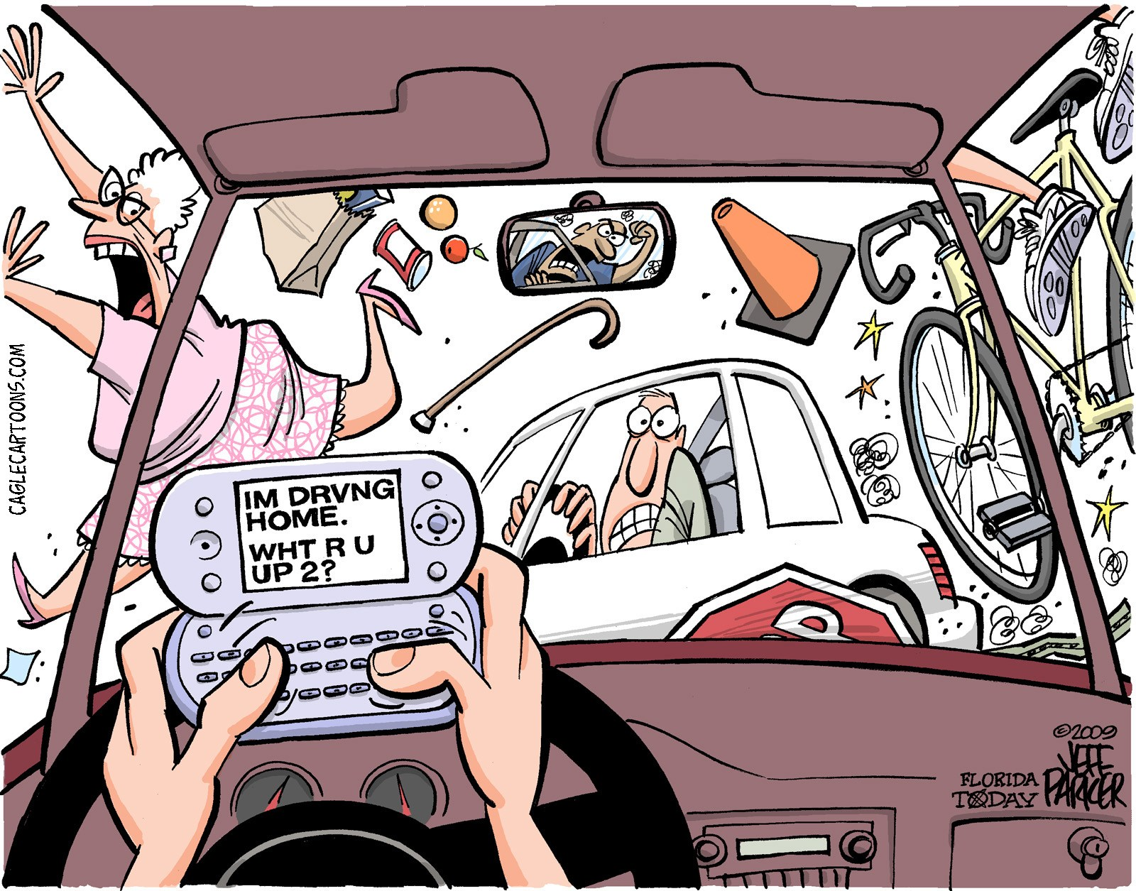 Texting while driving clipart 6 » Clipart Portal.